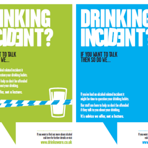 Poster - Drinking Incident Green Blue